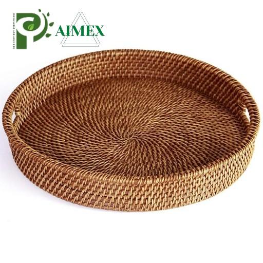 round-rattan-tray